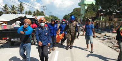 Begitu Tiba di Palu, Tim Solidaritas Kota Makassar Langsung Bekerja Evakuasi Korban