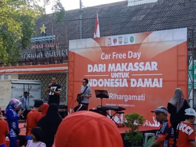 """CFD di Anjungan Pantai Losari Usung Tema """"Dari Makassar Untuk Indonesia Damai"""""""