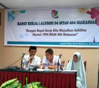 IKA 1994 MTsN 1 Kota Makassar Gelar Rapat Kerja