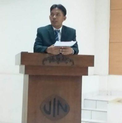 Dekan Fak. Adab & Humaniora UIN Makassar Lepas Mahasiswanya Ikuti FTMI XV di Palopo
