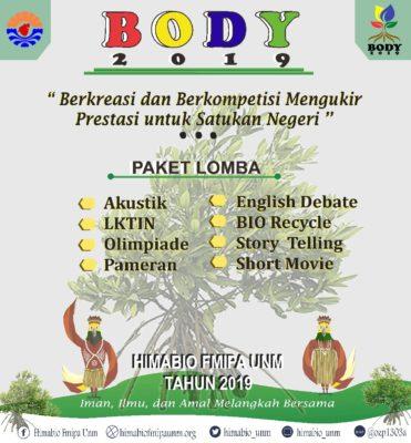 HMJ Biologi FMIPA UNM Makassar Akan Gelar BODY Bulan November Mendatang
