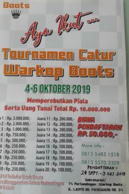 Warkop Boots Makassar Adakan Turnamen Catur, Berikut Jadwalnya