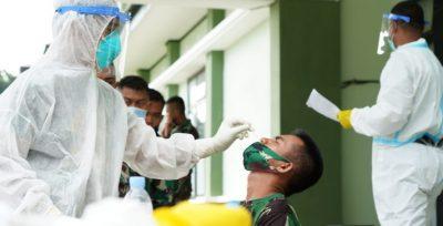 Satgas Hasanuddin Tetap Sehat, Tetap Wajib Rapid Test Antigen